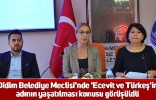 Didim Belediye Meclisi'nde 'Ecevit ve Türkeş'in...