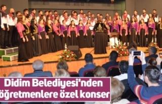 Didim Belediyesi'nden öğretmenlere özel konser