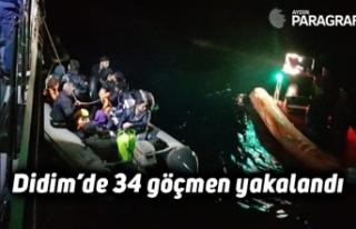 Didim'de 34 göçmen yakalandı