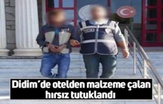Didim'de otelden malzeme çalan hırsız tutuklandı