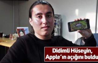 Didimli Hüseyin, Apple'ın açığını buldu