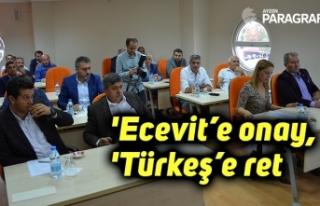 'Ecevit'e onay, 'Türkeş'e ret