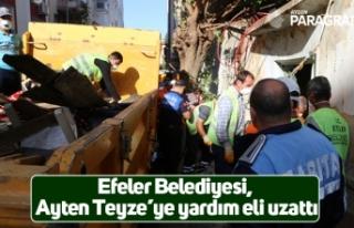 Efeler Belediyesi, Ayten Teyze'ye yardım eli uzattı