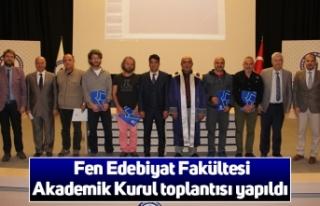 Fen Edebiyat Fakültesi Akademik Kurul toplantısı...