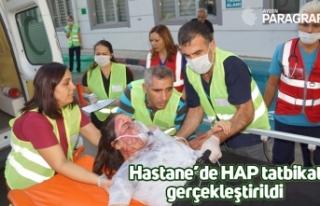 Hastane'de HAP tatbikatı gerçekleştirildi