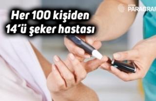 Her 100 kişiden 14'ü şeker hastası