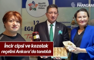 İncir cipsi ve kozalak reçelini Ankara'da tanıtıldı