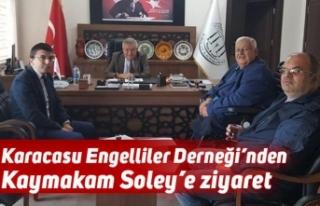 Karacasu Engelliler Derneği'nden Kaymakam Soley'e...