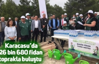 Karacasu'da 26 bin 680 fidan toprakla buluştu
