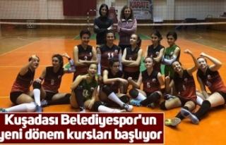 Kuşadası Belediyespor'un yeni dönem kursları...