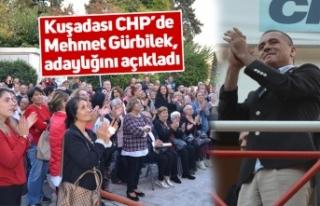 Kuşadası CHP'de Mehmet Gürbilek, adaylığını...