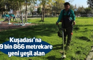 Kuşadası'na 9 bin 866 metrekare yeni yeşil alan