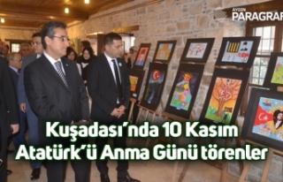 Kuşadası'nda 10 Kasım Atatürk'ü Anma Günü...