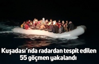 Kuşadası'nda radardan tespit edilen 55 göçmen...