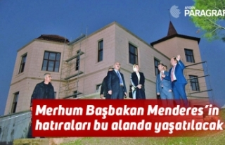 Merhum Başbakan Menderes'in hatıraları bu alanda...