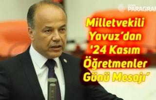 Milletvekili Yavuz'dan '24 Kasım Öğretmenler...