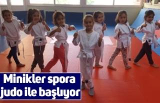 Minikler spora judo ile başlıyor