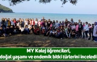 MY Kolej öğrencileri, doğal yaşamı ve endemik...
