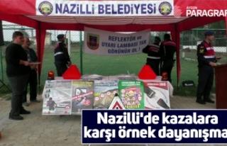 Nazilli'de kazalara karşı örnek dayanışma