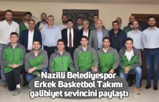 Nazilli Belediyespor Erkek Basketbol Takımı galibiyet...