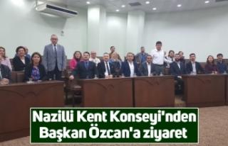Nazilli Kent Konseyi'nden Başkan Özcan'a...