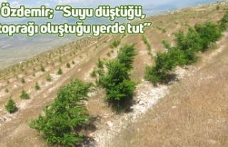 """Özdemir; """"Suyu düştüğü, toprağı oluştuğu..."""