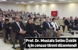 Prof. Dr. Mustafa Selim Özkök için cenaze töreni...