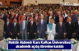Rektör Aldemir Kars Kafkas Üniversitesi akademik...