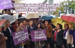 Sökeli kadınlar 25 Kasım'da şiddete karşı...