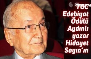TGC edebiyat ödülü Aydınlı yazar Hidayet Sayın'a...