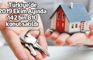 Türkiye'de 2019 Ekim Ayında 142 bin 810 konut...