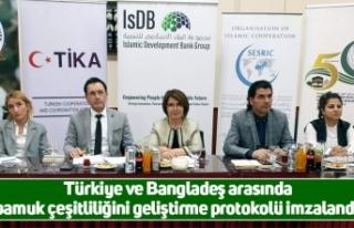 Türkiye ve Bangladeş arasında pamuk çeşitliliğini...
