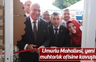 Umurlu Mahallesi, yeni muhtarlık ofisine kavuştu