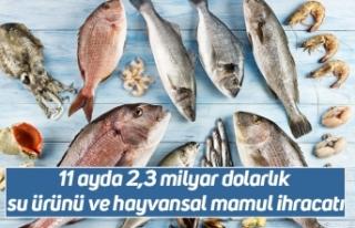11 ayda 2,3 milyar dolarlık su ürünü ve hayvansal...