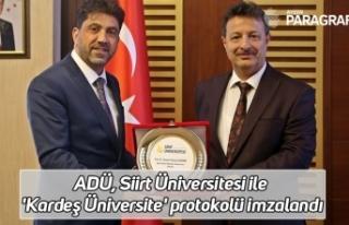 ADÜ, Siirt Üniversitesi ile 'Kardeş Üniversite'...