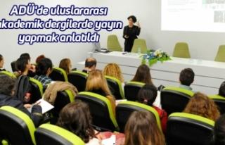 ADÜ'de uluslararası akademik dergilerde yayın...
