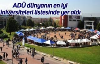 ADÜ dünyanın en iyi üniversiteleri listesinde...