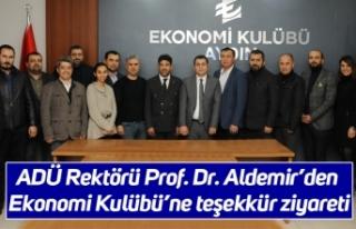 ADÜ Rektörü Prof. Dr. Aldemir'den Ekonomi Kulübü'ne...