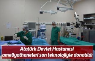 Atatürk Devlet Hastanesi ameliyathaneleri son teknolojiyle...