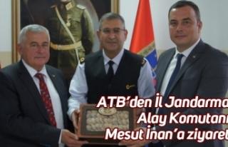 ATB'den İl Jandarma Alay Komutanı Mesut İnan'a...