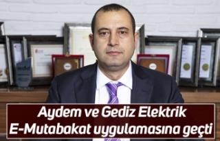 Aydem ve Gediz Elektrik E-Mutabakat uygulamasına...