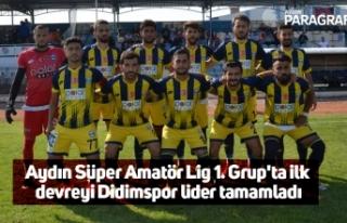 Aydın Süper Amatör Lig 1. Grup'ta ilk devreyi...
