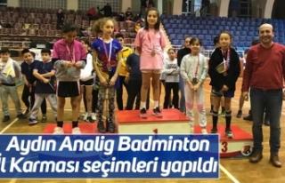 Aydın Analig Badminton İl Karması seçimleri yapıldı