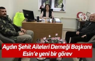 Aydın Şehit Aileleri Derneği Başkanı Esin'e...