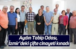 Aydın Tabip Odası, İzmir'deki çifte cinayeti...