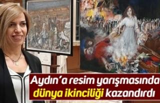 Aydın'a resim yarışmasında dünya ikinciliği...