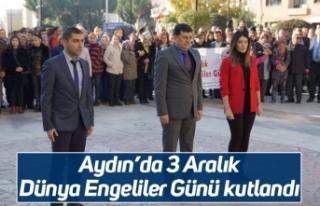 Aydın'da 3 Aralık Dünya Engeliler Günü kutlandı