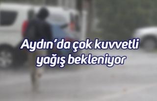 Aydın'da çok kuvvetli yağış bekleniyor