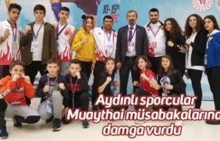 Aydınlı sporcular Muaythai müsabakalarına damga...