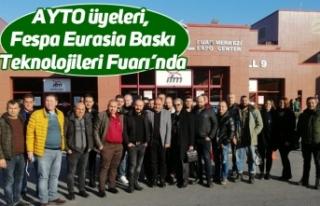 AYTO üyeleri, Fespa Eurasia Baskı Teknolojileri...